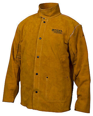LINCOLN ELECTRIC CO Leather Welding Jacket, Large KH807L