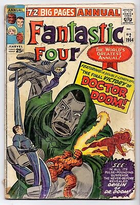 Fantastic Four Annual  # 2 Doctor Doom  Vgvg-  1964  Marvel  Comics  10