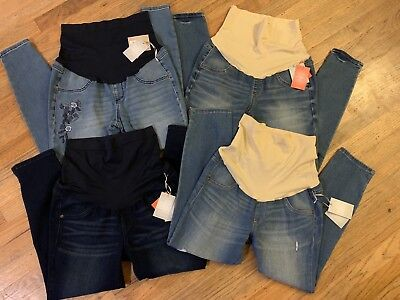 Brand New Maternity Jeans Jeggings Lot Size Large 12