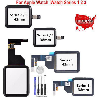 Front Touch Screen Digitizer Glass For Apple Watch iWatch Series 1 2 3 38mm/42mm