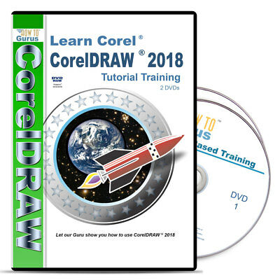 HOW TO GURUS Corel Draw CorelDRAW X8 Tutorial Training 11 hrs 2 DVDs