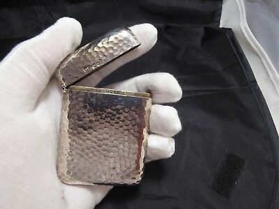Stunning Victorian Solid Silver Card Case  London 1877