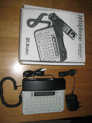 Ultratec Uniphone 1150 textphone. For deaf/hearing/speech impaired.