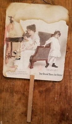 1915? Star Brand Shoes Hand Fan, Worden, Smithshire, IL Tess & Ted, Monmouth, IL