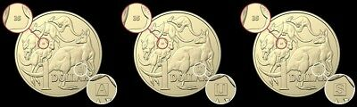Australian 2019 $ 1 Dollar Coins With A, U and S Marks (Free Postage)