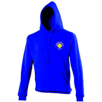 Leeds United F.C. Retro Logo Hoodie EMBROIDERED. The Peacocks. Smiley