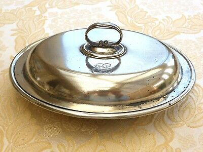 Victorian Silver Plated Oval Two Section Food Serving Dish With Lid  1330496/501