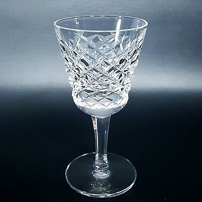 "WATERFORD CRYSTAL ALANA STEMMED CORDIAL GLASSES LIQUOR Four (4) +1, 3 1/2"" TALL"
