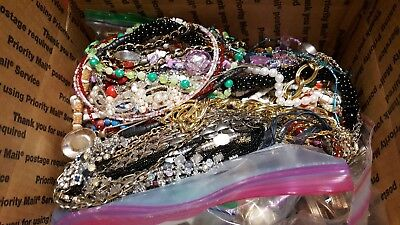 HUGE Lot of Vintage to Now Costume Jewelry 12 POUNDS! MOST WEARABLE