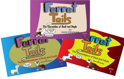 ********   Ferret Tails Comicstrip Collection 3 Books Humor 48 Pages ***********