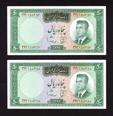 Pick 76  UNC  Authentic  BANKNOTE PAIR Year 1964 UNC