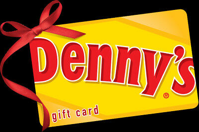 $25 Denny's Physical Gift Card For Only $21.75 - FREE 1st Class Mail Delivery