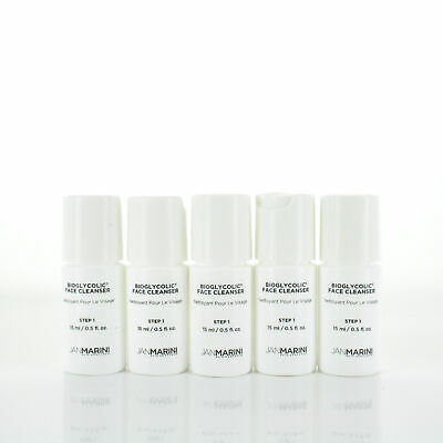 Jan Marini Bioglycolic Face Cleanser 0.5oz/15ml Sample Set of 5
