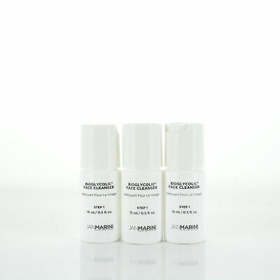 Jan Marini Bioglycolic Face Cleanser 0.5oz/15ml Sample Set of 3