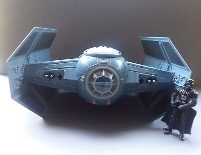 1997 Star Wars Power of Force  Darth Vader's Advanced Tie Fighter with figure