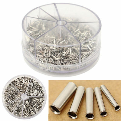 1900pcs Wire Connectors Butt Kupfer Crimp Terminals Sortiment Kit 0.5-2.5mm²