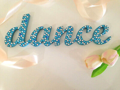 'dance' Christmas gift hand decorated wooden word home decor