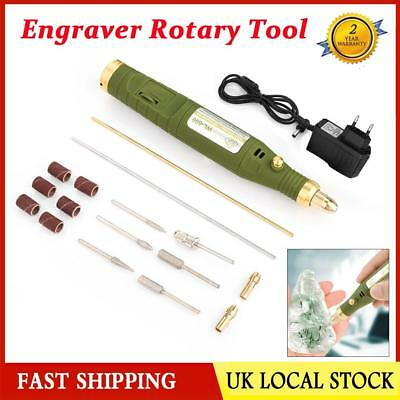 220V Mini Electric Grinder Drill Engraving Pen Grinding Rotary Tool Set Portable