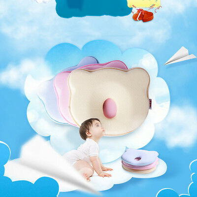 1x Lovely Infant Baby Pillow Newborn Prevent Flat Head Anti Roll Support Neck