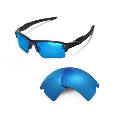 3be79c56be Walleva Polarized Ice Blue Replacement Lenses For Oakley Flak 2.0 XL  Sunglasses
