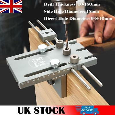 3 in 1 6/8/10/15mm Woodworking Self Centering Dowelling Jig Drill Guide Locator.