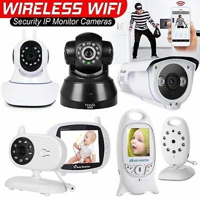 Wireless 1080P/720P HD WIFI IP Network Camera CCTV Indoor Security IR Night UK