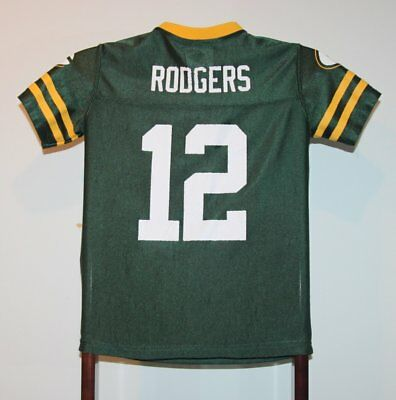 Maillot Trikot Jersey Foot Américain Nfl Aaron Rodgers Green Bay Packers 8 ans