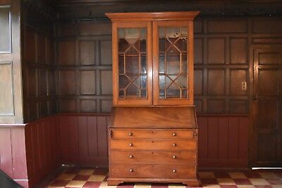 A Late 19th Century Mahogany Bureau Bookcase