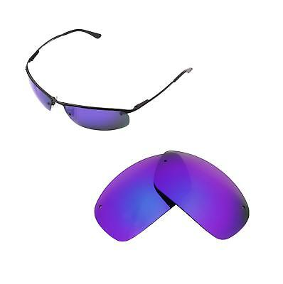 8a4177734c New Walleva Purple Polarized Replacement lenses For Ray-Ban RB3183 63mm