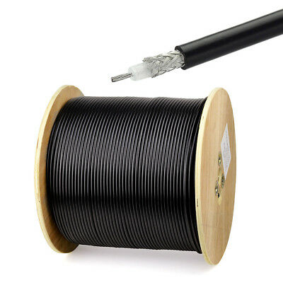 100FT RG58 Single Copper Braid Shielded RF Coaxial Cable Connector Adapter RG58