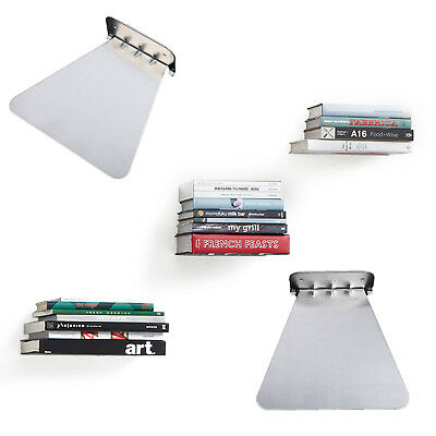 Creative Bookshelf Wall Mount Invisible Book Shelf Holder Floating Decor Easy