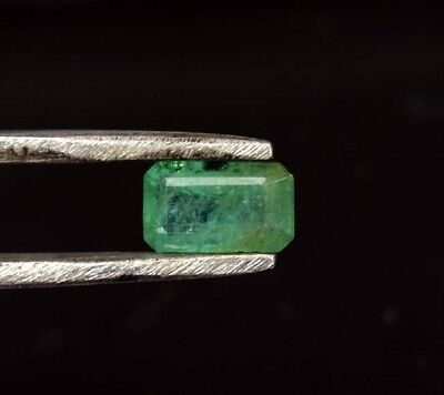 0.85 Cts. 100% Natural Zambia Emerald [7*4*3.5 mm] Octagon Cut Loose Gemstone
