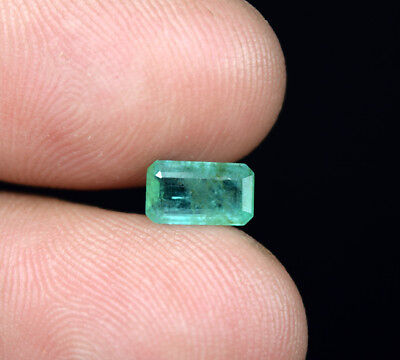0.95 Ct. 100 % Natural Zambian Emerald Octagon Cut 8*4.5*2.5 mm Loose Gemstone