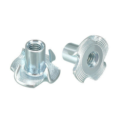 50Pcs M4 4 Pronged Tee Nut T-Nut For Rock Climbing Holds Wood Cabinetry
