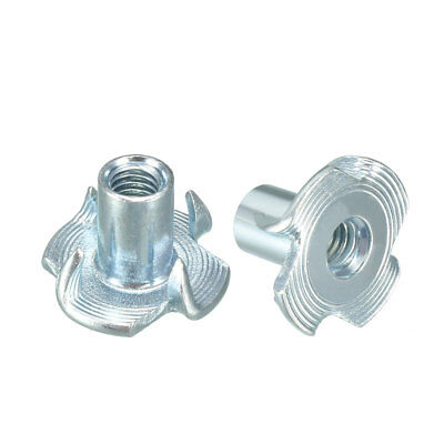 100Pcs M4 4 Pronged Tee Nut T-Nut For Rock Climbing Holds Wood Cabinetry