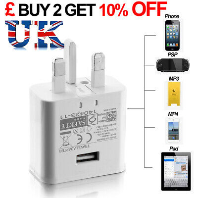 NEW White Genuine Fast Charger UK Plug For Samsung Galaxy S7 Edge S6 S5 Note 4 5