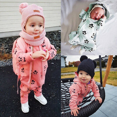 Infant Baby Toddler Hooded Romper Jumpsuit Cartoon Panda Zipper Outfit Clothes