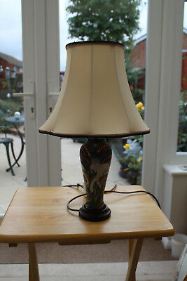 Moorcroft Floral Designed Table Lamp. Inc  Shade. V Nice Condition