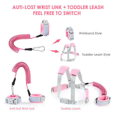 Toddler Baby Kids Anti-lost Safety Walking Harness + Hand Belt Strap Wrist Leash