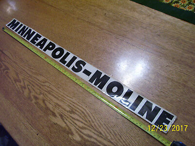 """Vintage  Minneapolis Moline Tractor Hood Decal ? -  29 1/2""""  Long  # 10A 20001"""