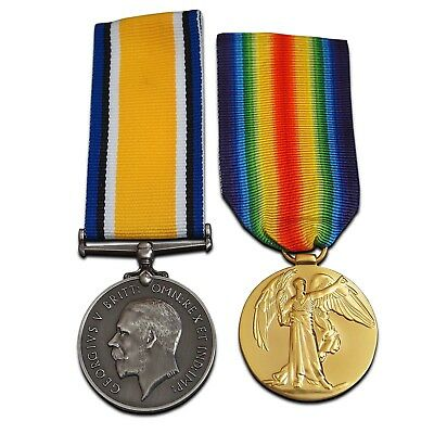 British War medal + Victory medal pair High Quality Reproduction Full Size WW1