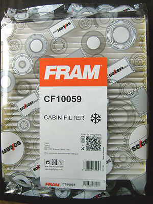 CF10059 FRAM ENGINE CABIN POLLEN FILTER GENUINE OE QUALITY REPLACEMENT