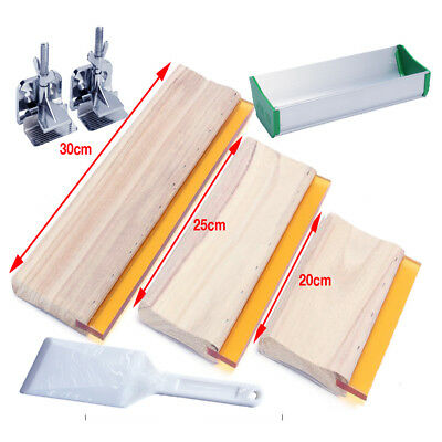 Screen Printing Squeegee Wooden Screen Printing Supplies Screen Clamps