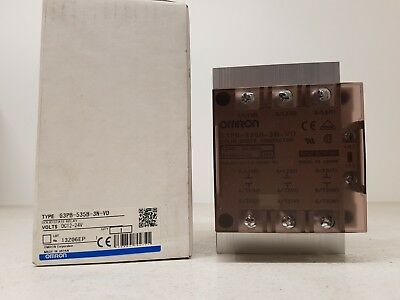 OMRON G3PB-535B-3N-VD solid state relay 12-24VDC 280÷480VAC 3 phases 29KW 35A 3P