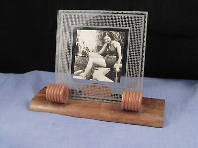 STYLISH ANTIQUE ART DECO WOODEN PHOTOGRAPH PHOTO PICTURE FRAME 1930s