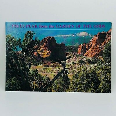 Postcard Colorado Pikes Peak Gateway to the Garden of the Gods Scenic 4x6 C-31q