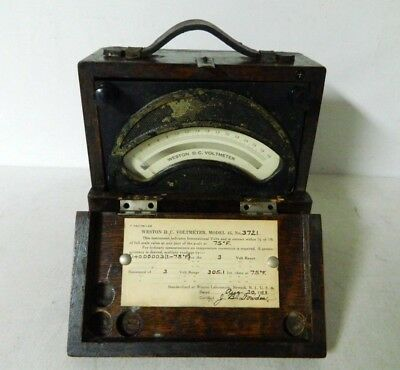 Antique Weston Electrical Instrument DC Voltmeter Model 45 - Tested and Working