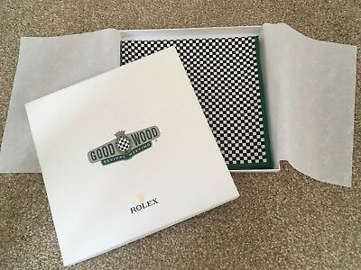 Rolex Goodwood Revival Chequered Flag Scarf, 100% Silk, boxed, VGC Retro Vintage