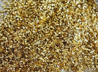 300 Tube Crimps 2mmx2mm Gold Coloured #0341 Jewellery Making Beading Findings