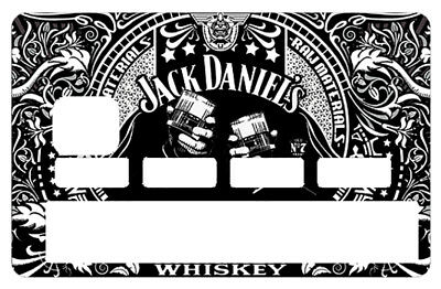 Stickers CB, decoratif, pour carte bancaire, I Love JACK DANIEL'S